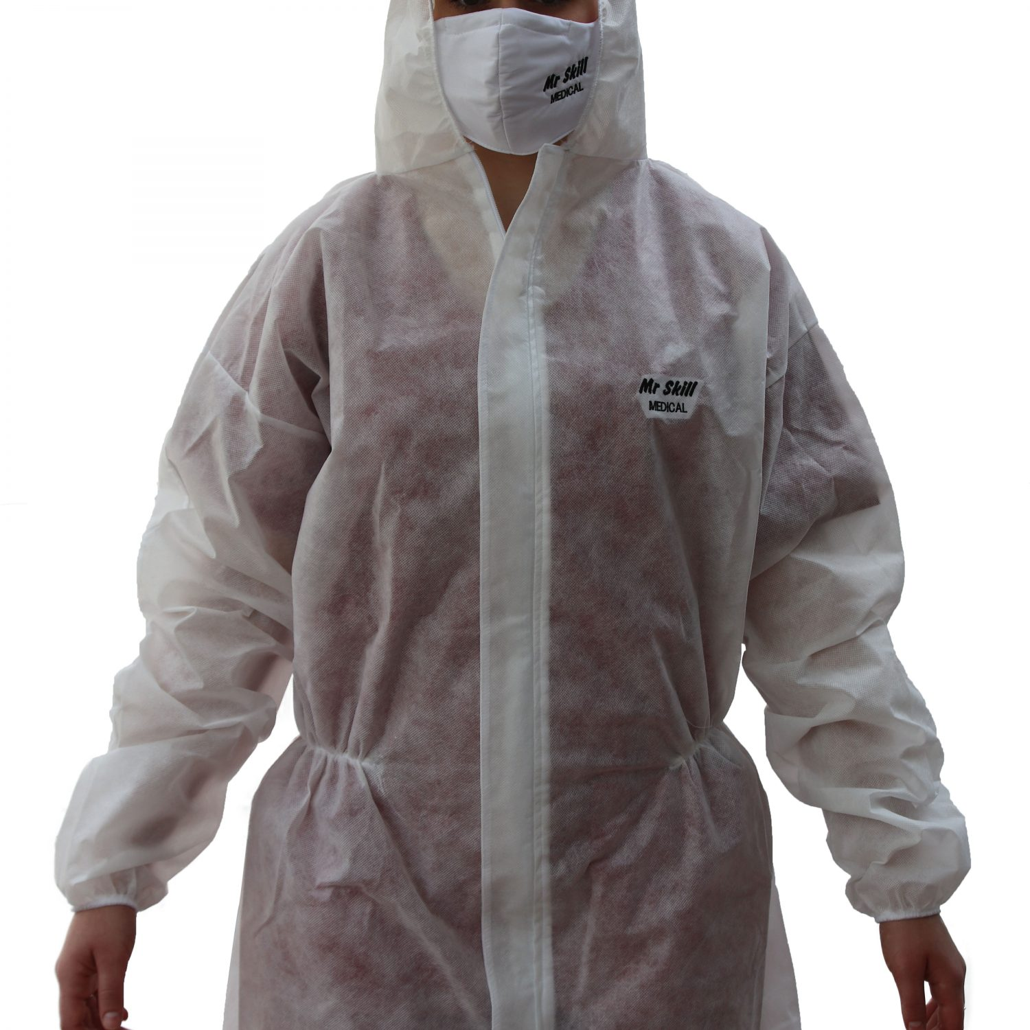 Coverall with hood (single use)